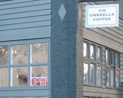 For coffee, the Tin Umbrella
